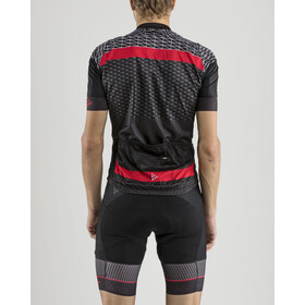 Craft Route Fietsshirt korte mouwen Heren, black/bright red